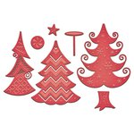 Spellbinders - Shapeabilities Collection - Die - Holiday Stylized Trees