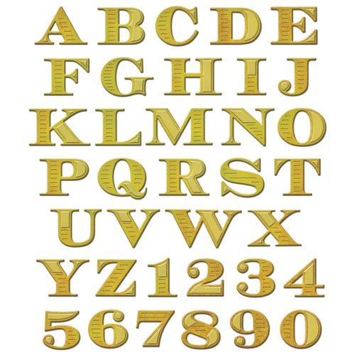 Spellbinders - Shapeabilities Collection - Die - Etched Alphabet