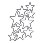 Spellbinders Donna Salazar Cascading Stars Shapeabilities Die