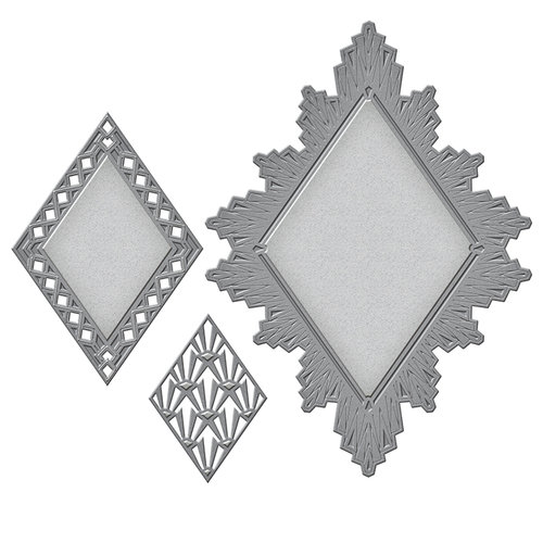 Spellbinders - Art Deco Collection - Nestabilities Die - Ritz Decorative Accent