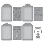 Spellbinders - Holiday Collection - Shapeabilities Die - Christmas Tag Set