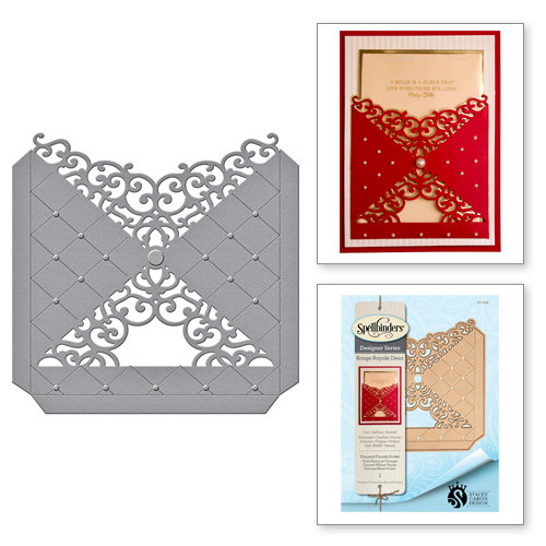 Spellbinders - Rouge Royale Deux Collection - Dies - Diamond Flourish Pocket