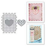 Spellbinders - Timeless Heart Collection - Shapeabilities Dies - Trailing Hearts