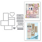 Spellbinders - Timeless Heart Collection - Shapeabilities Dies - Friends and Family Frames