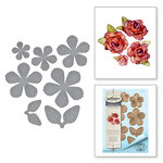 Spellbinders - Timeless Heart Collection - Shapeabilities Dies - Textured Flowers