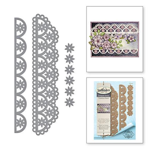 Spellbinders - Timeless Heart Collection - Shapeabilities Dies - Flower Lace Borders