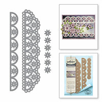 Spellbinders - Timeless Heart Collection - Shapeabilities Dies - Flower Lace Borders