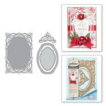 Spellbinders - Chantilly Paper Lace Collection - Shapeabilities Dies - Annabelles Trousseau Layering Frame Medium