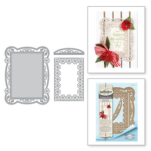 Spellbinders - Chantilly Paper Lace Collection - Shapeabilities Dies - Tallulah Frill Layering Frame Small