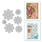 Spellbinders - Thoughtful Expressions Collection - Etched Dies - Succulent and Mum Flower
