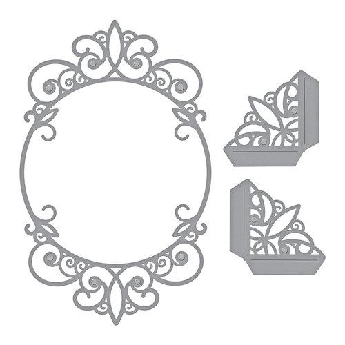 Spellbinders - Elegant 3D Cards Collection - Etched Dies - Tiara Rondelle