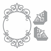 Spellbinders - Elegant 3D Cards Collection - Etched Dies - Tiara Rondelle
