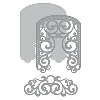 Spellbinders - Elegant 3D Cards Collection - Etched Dies - Filigree Veil