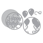 Spellbinders - Elegant 3D Cards Collection - Etched Dies - Layered Happy Birthday