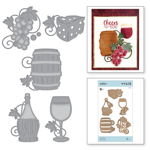 Spellbinders - Wine Country Collection - Etched Dies - Wine Charms