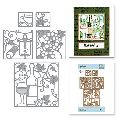 Spellbinders - Wine Country Collection - Etched Dies - Wine Snippets