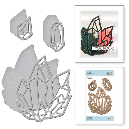 Spellbinders - Good Vibes Only Collection - Etched Dies - Crystal Peaks