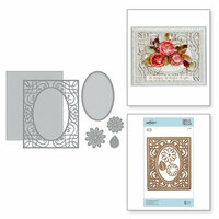 Spellbinders - Romancing the Swirl Collection - Card Creator - Die - A2 Corner Cotillion