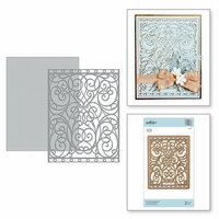Spellbinders - Romancing the Swirl Collection - Card Creator - Die - A2 Swirl Background