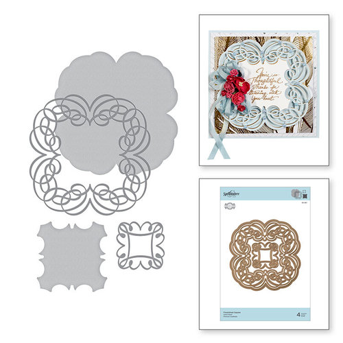 Spellbinders - Romancing the Swirl Collection - Shapeabilities Dies - Flourished Square