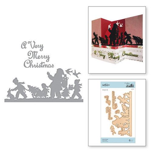 Spellbinders - A Sweet Christmas Collection - Shapeabilities Dies - Santa Parade