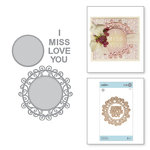Spellbinders - Special Moments Collection - Shapeabilities Dies - Miss You Swirl