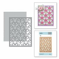 Spellbinders - Exquisite Splendor Collection - Card Creator - Die - A2 Tulip Flower Frame