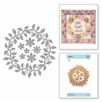 Spellbinders - Exquisite Splendor Collection - Shapeabilities Die - Blooming Floral Wreath