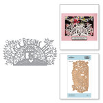 Spellbinders - Great, Big, Wonderful World Collection - Shapeabilities Die - Peace Begins Here