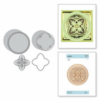 Spellbinders - Vintage Treasures Collection - Shapeabilities Dies - Etched Dies - Tiffany Lavaliere