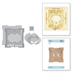 Spellbinders - Vintage Treasures Collection - Shapeabilities Dies - Etched Dies - Antiquities Square