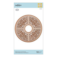 Spellbinders - Dimensional Doily Collection - Etched Dies - Filigree Drop in Circlet Doily