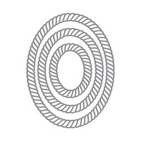 Spellbinders - Elegant Twist Collection - Etched Dies - Ovals