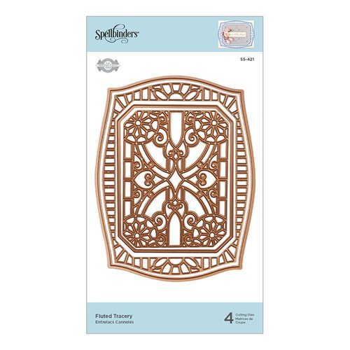 Spellbinders - Flourished Fretwork Collection - Etched Dies - Fluted Tracery