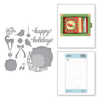 Spellbinders - Christmas Cascade Collection - Etched Dies - Holly Frame Gala