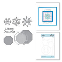 Spellbinders - Christmas Cascade Collection - Etched Dies - Snowflake Splendor