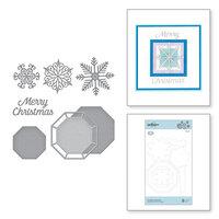 Spellbinders - Christmas Cascade Collection - Etched Dies - Snowflake Splendor