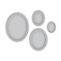 Spellbinders - Picot Petite Collection - Etched Dies - Ovals