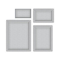 Spellbinders - Picot Petite Collection - Etched Dies - Rectangles