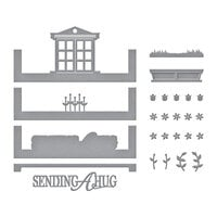 Spellbinders - Make a Scene Collection - Etched Dies - Picture Perfect Window Scene