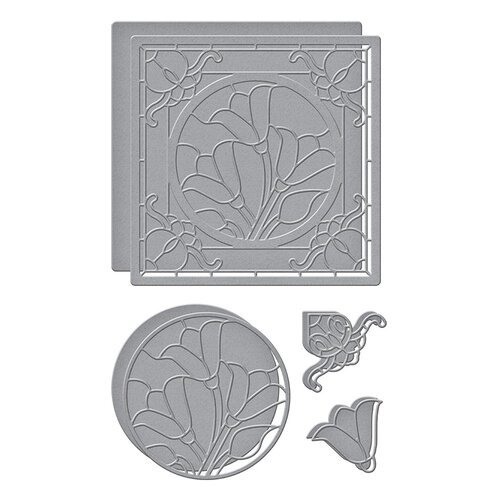 Spellbinders - Stained Glass Bouquet Collection - Etched Dies - Tulip Trio