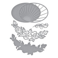 Spellbinders - Stained Glass Bouquet Collection - Etched Dies - Radiant Oval