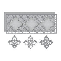 Spellbinders - Slimline Collection - Etched Dies - Moroccan Kaleidoscope