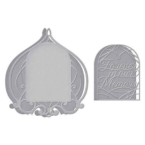 Spellbinders - Beautiful Sentiment Vignettes Collection - Etched Dies - Forever In Our Memory Vignette