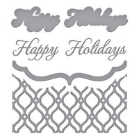 Spellbinders - Holiday Medley Collection - Christmas - Etched Dies - Mosaic Bracket Card Builder