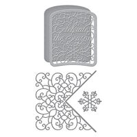 Spellbinders - Holiday Medley Collection - Christmas - Etched Dies - Celebrate Scrollwork Card Builder