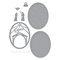 Spellbinders - Christmas Traditions Collection - Etched Dies - Rejoice Nativity