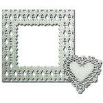 Spellbinders - Shapeabilities Collection - Die - Decorative Frames - Loving' Diamonds