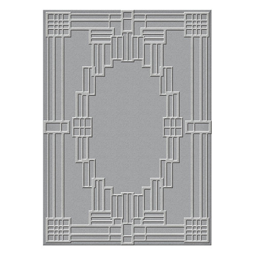 Spellbinders - Art Deco Collection - Texture Plates - Deco Squared