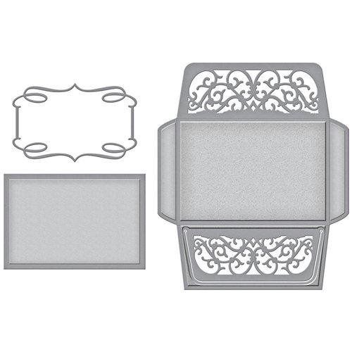 Spellbinders - Wedding Collection - Shapeabilities Die - Card, Envelope and Liner Set